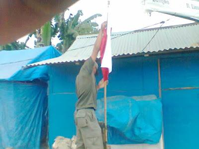 Sengaja atau Tidak, Ada Warga Rimbo Bujang Pasang Bendera Merah Putih Terbalik