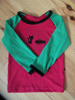 Raglan Shirt Green Pink