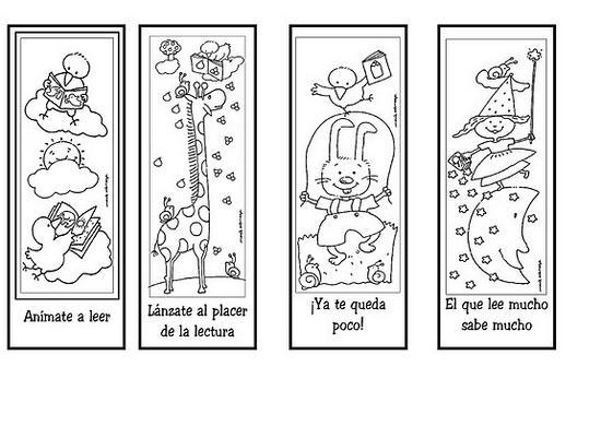 Separadores de libros para niños para imprimir - Imagui