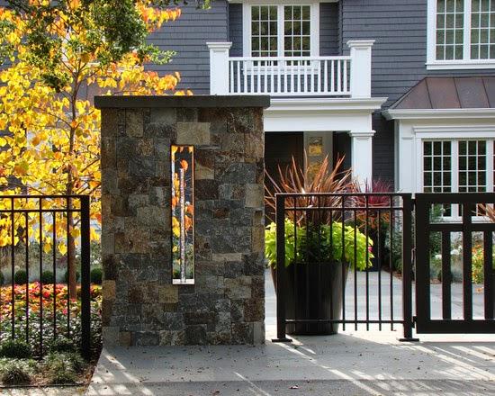 contoh pagar minimalis modern, gambar pagar minimalis modern