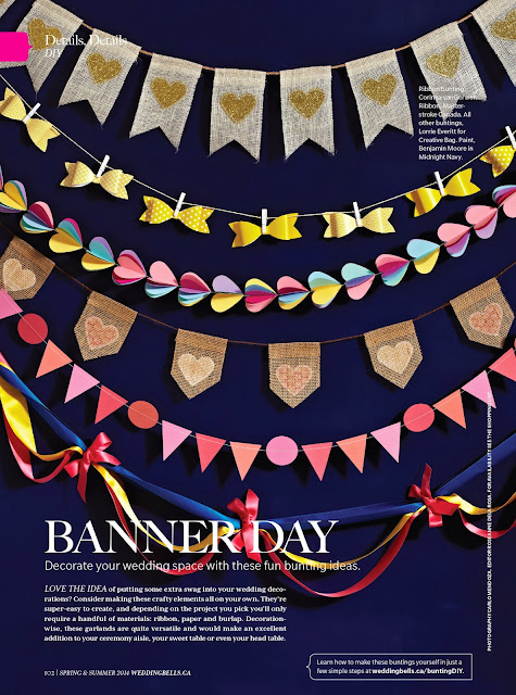 diy bunting inspiration | Weddingbells