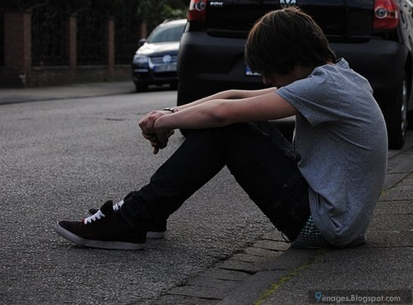 hwfd alone sad depressed anime boys photo hd wallapapers free
