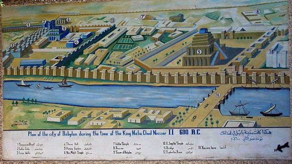 Map Nebuchadnezzar II, Babilonia Kuno