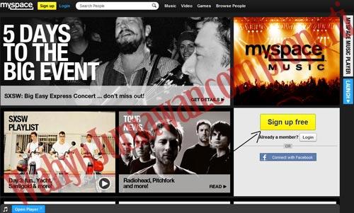 Cara Cepat Membuat Akun Myspace