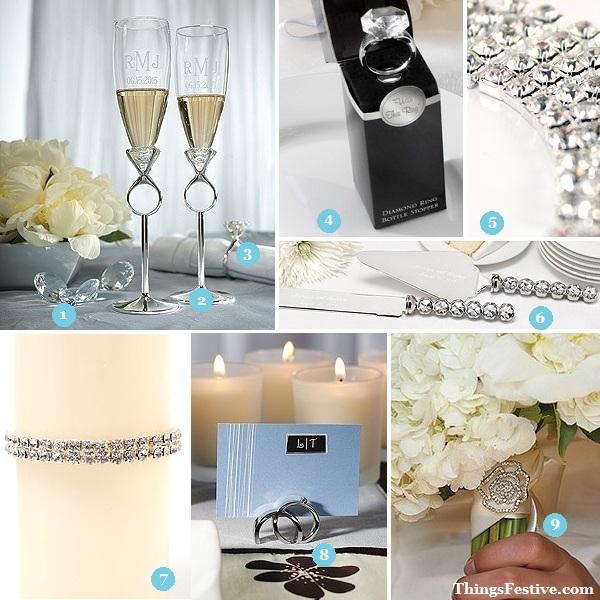 Diamond Wedding Decorations Add Sparkle To Your Day