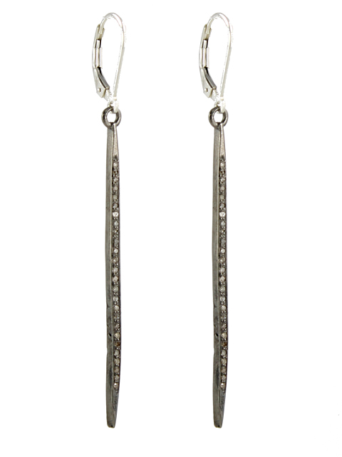 diamond spike earrings