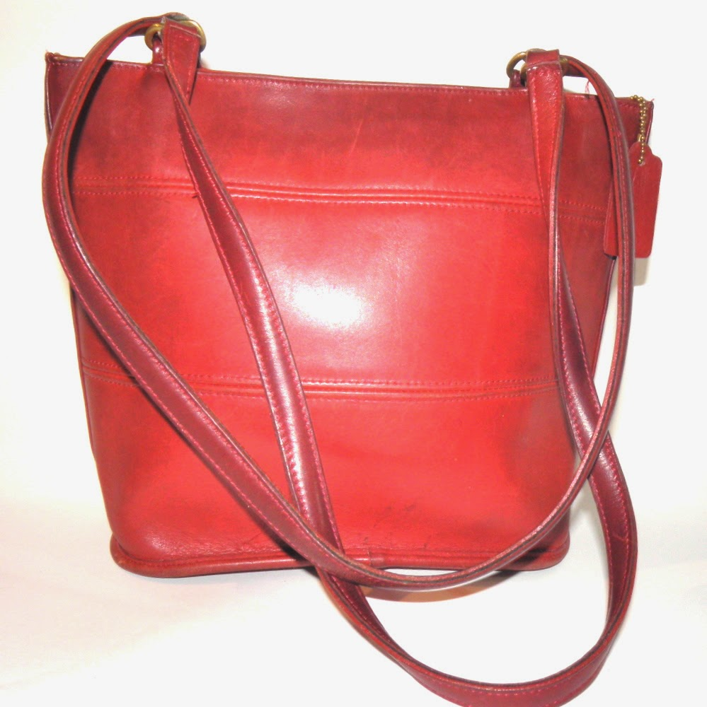 Rare Coach Red Tote Briefcase Bag