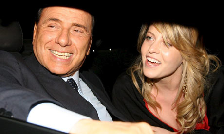 Nella foto Silvio Berlusconi and Barbara Berlusconi