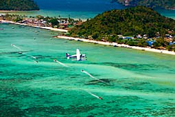 Water plane at Phi-Phi Thailand