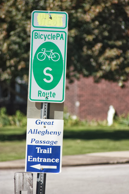 Great Allegheny Passage sign
