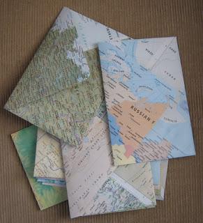 Map Page Envelopes - Meiphemera