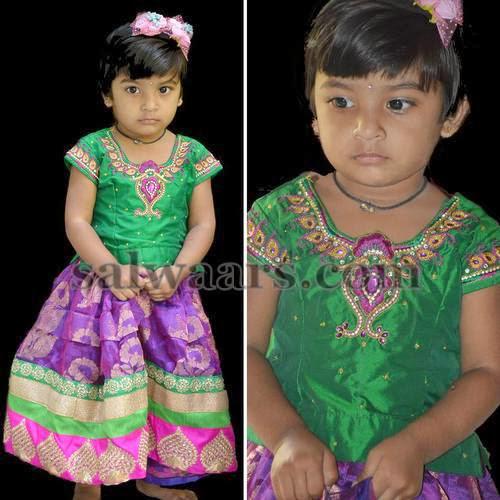Girl in Purple Kota Lehenga