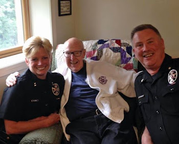 Msgr McCarthy at 97 With Sheriff and Undersheriff