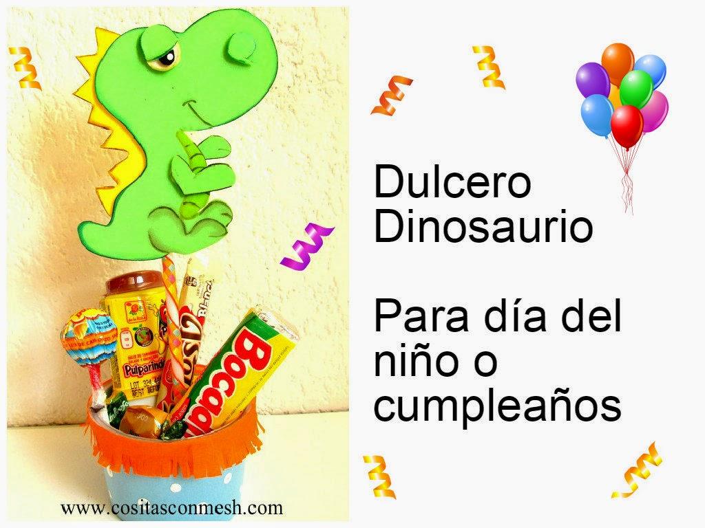 Manualidades para dia del ni o dulcero dinosaurio for Manualidades decoracion infantil