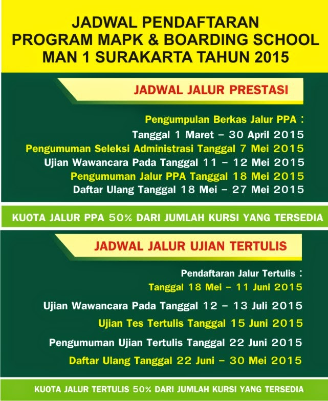 JADWAL PPDB PROGRAM MAPK DAN BOARDING