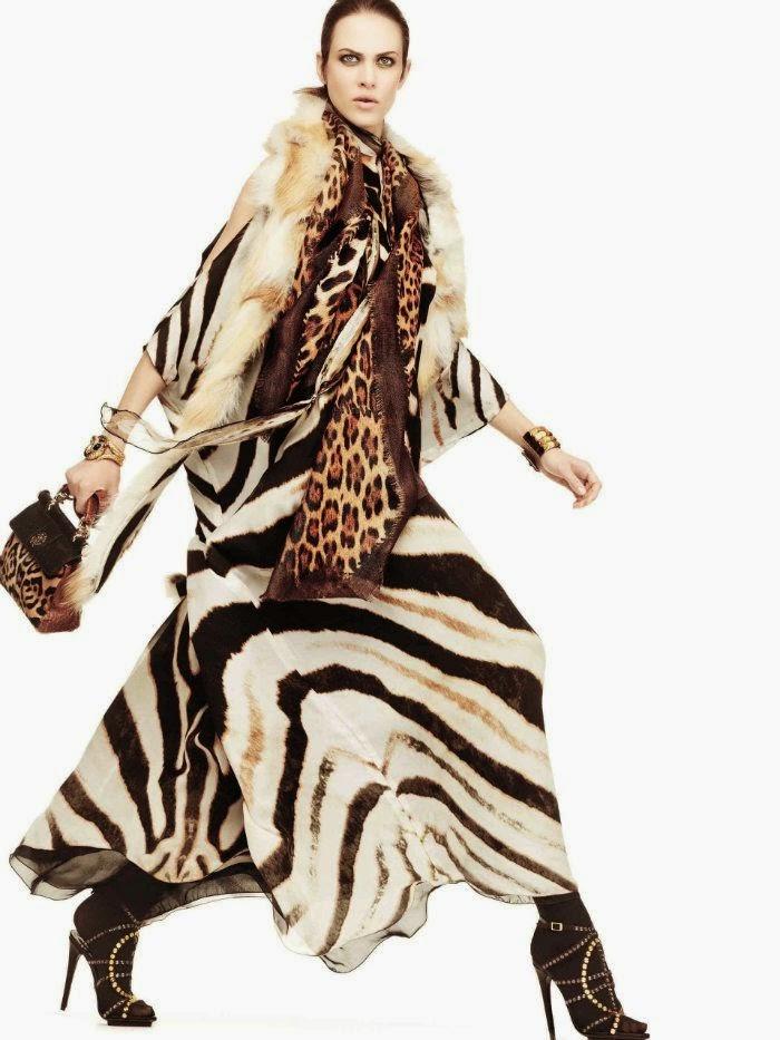 Tendência da moda 2015 - padrão zebra vestidos maxi
