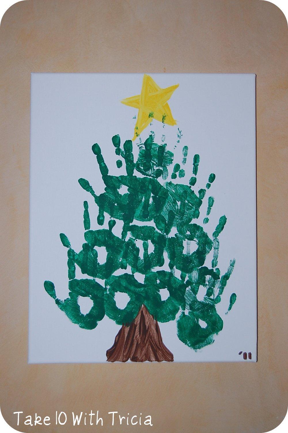 christmas tree handprint - photo #37