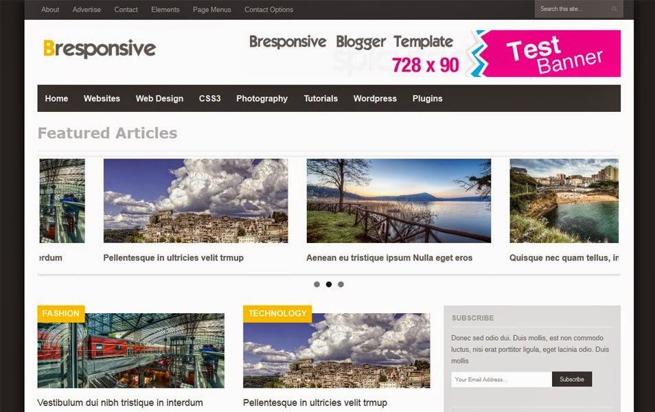 Responsive Premium Magazine Blogger Template (Bresponsive)