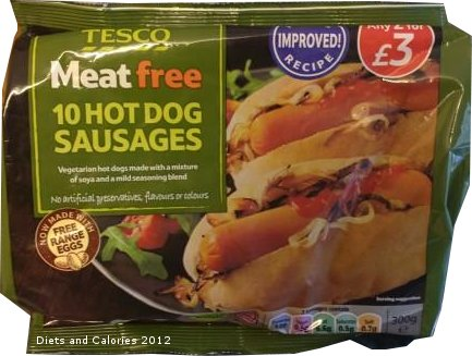 Tesco Meat Free Hot Dogs
