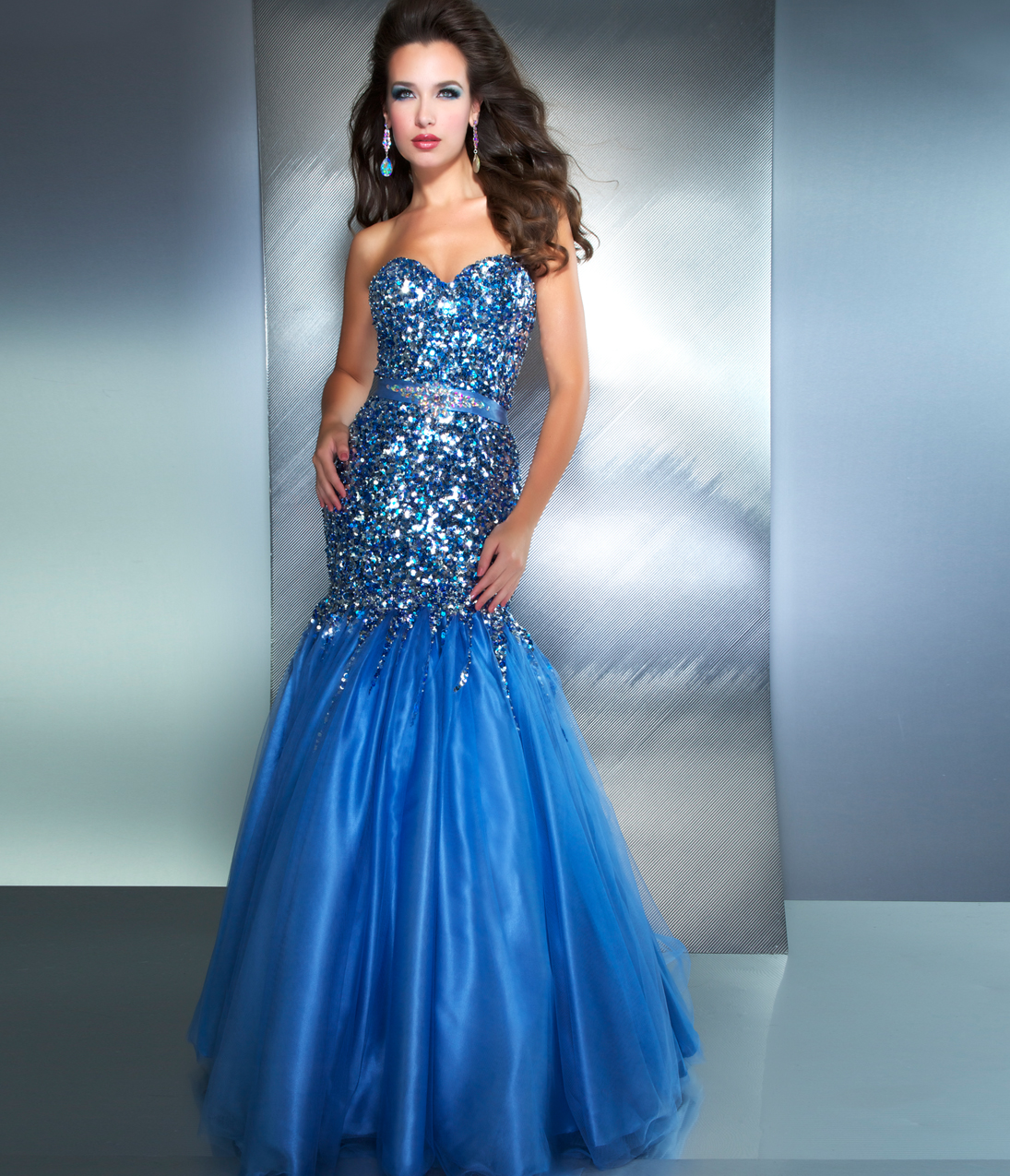 Sequined Prom Dresses - Evening Wear