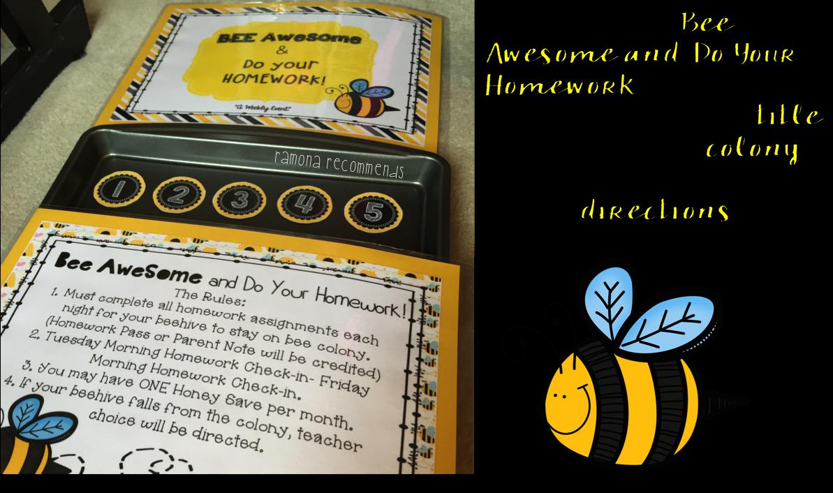 Bee Awesome Homework Chart