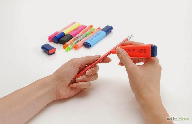 Decorar lapiceros en Recicla Inventa