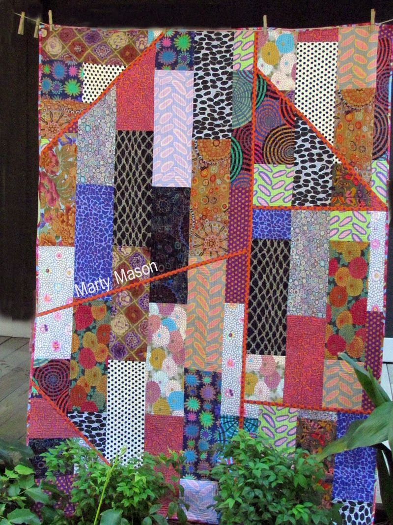 Revisited:  a quilt top by Marty Mason