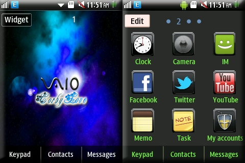 CORBY 2 THEMES: Blue VAIO Theme by Anonymous