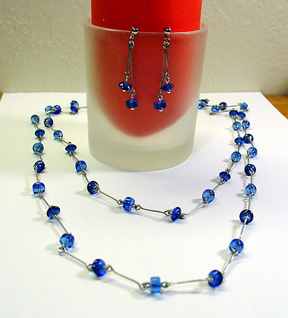 wirework necklace and earrings