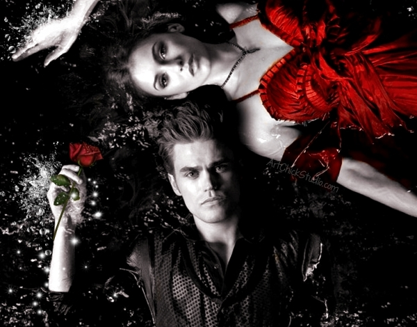 Stefan and Elena's Love TVD Digital Art