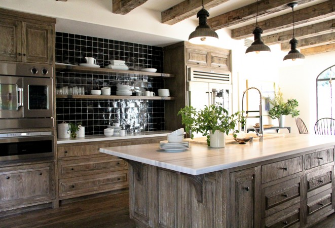 Peonies and orange blossoms cerused french oak kitchens for Y kitchen rules 2018