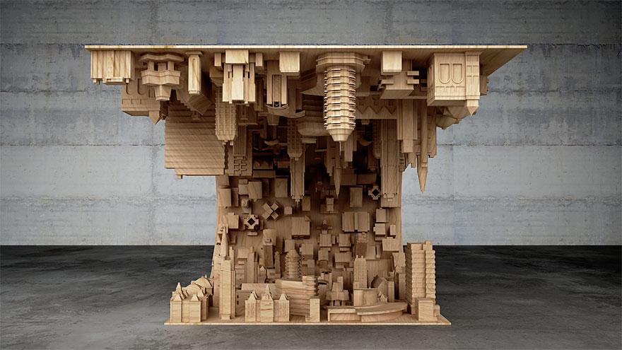 Diseño de mesa  basada en pelicula de Dicaprio