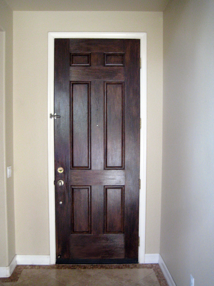 AFTER: The Finished Inside Of The Front Door.