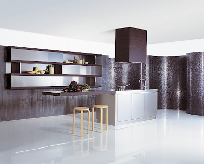 modern kitchen design with stainless steel sink and stove