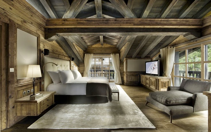 Rustic interior design most beautiful houses in the world for Idee di design di chalet