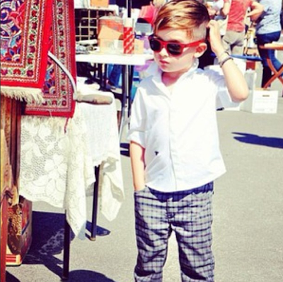 Alonso Mateo, stylish little man in plaid pants
