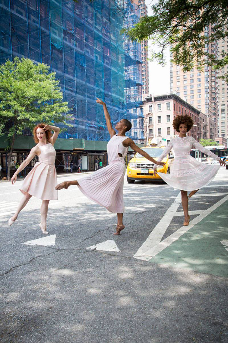 Alvin Ailey dancers spring 2014 dresses New York City streets, Elle magazine