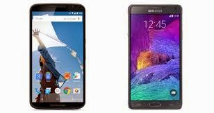 Samsung Galaxy Note 4 VS Google Nexus 6