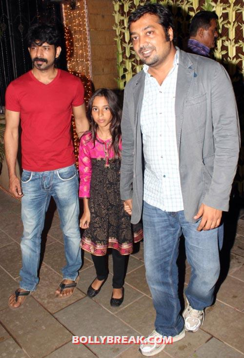 Anurag Kashyap with daughter Aliya - (26) - Amitabh Bachchan Diwali Bash Photos
