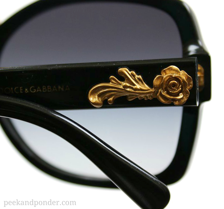 Dolce & Gabbana sunglasses with gold roses