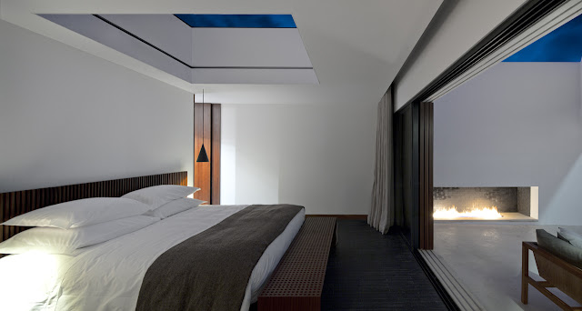 Picture of modern bedroom in the hotel
