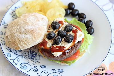 Hamburguesa a la griega