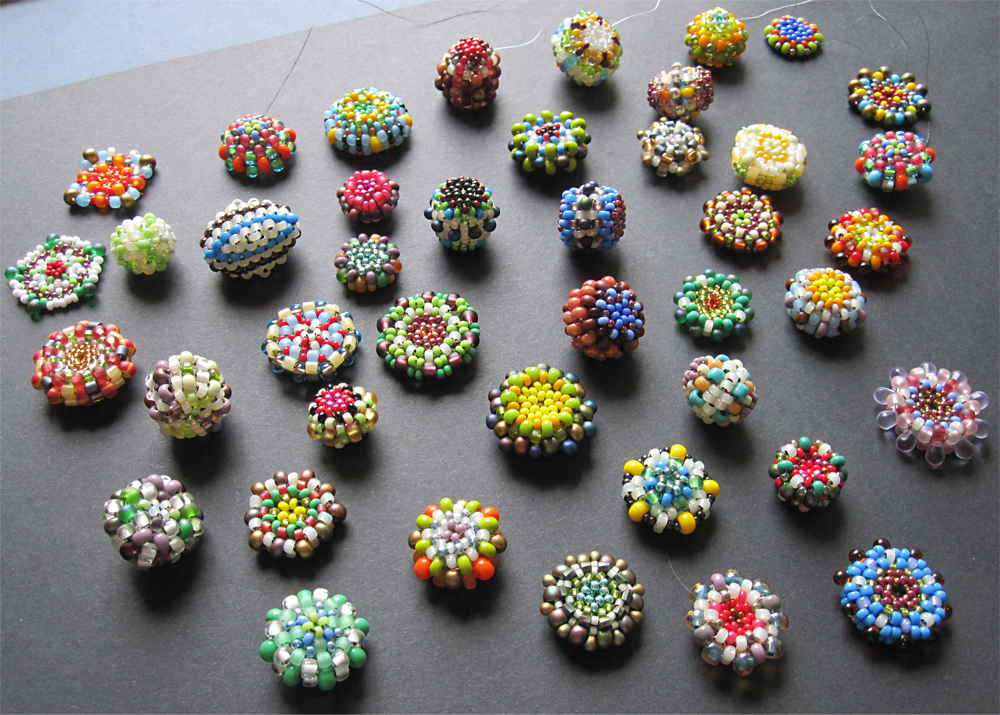 Tutorial beaded beads by malin de koning