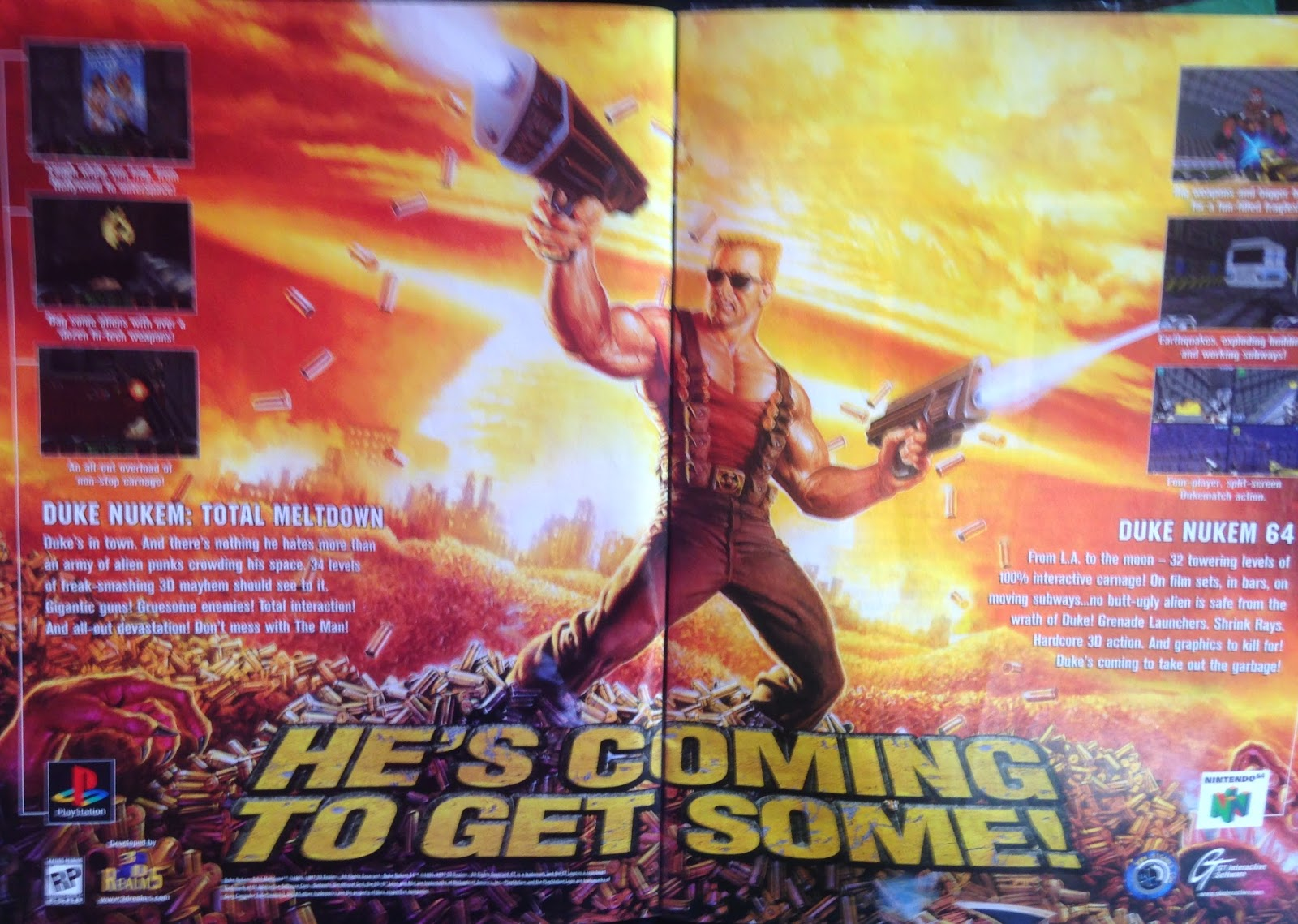WWF MAGAZINE - JANUARY 1998 -  Duke Nukem game advert