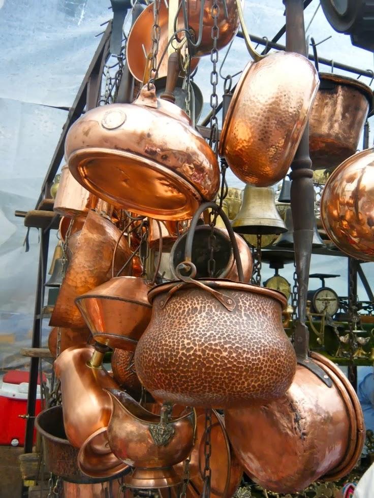 Maravillosos objetos de cobre decoraci n retro - Objetos fabricados con cobre ...