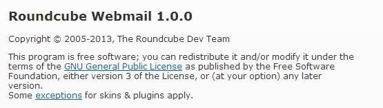 Bieżąca wersja roundcube