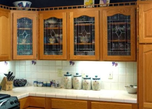 Glass Inserts Can Improve The Look Of Your Kitchen Cabinets
