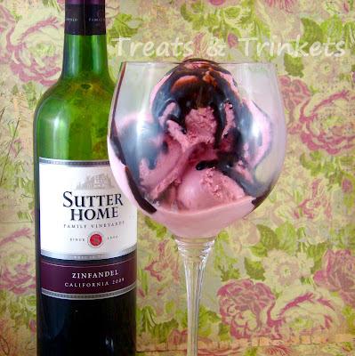 Treats & Trinkets: Raspberry Red Wine Ice Cream