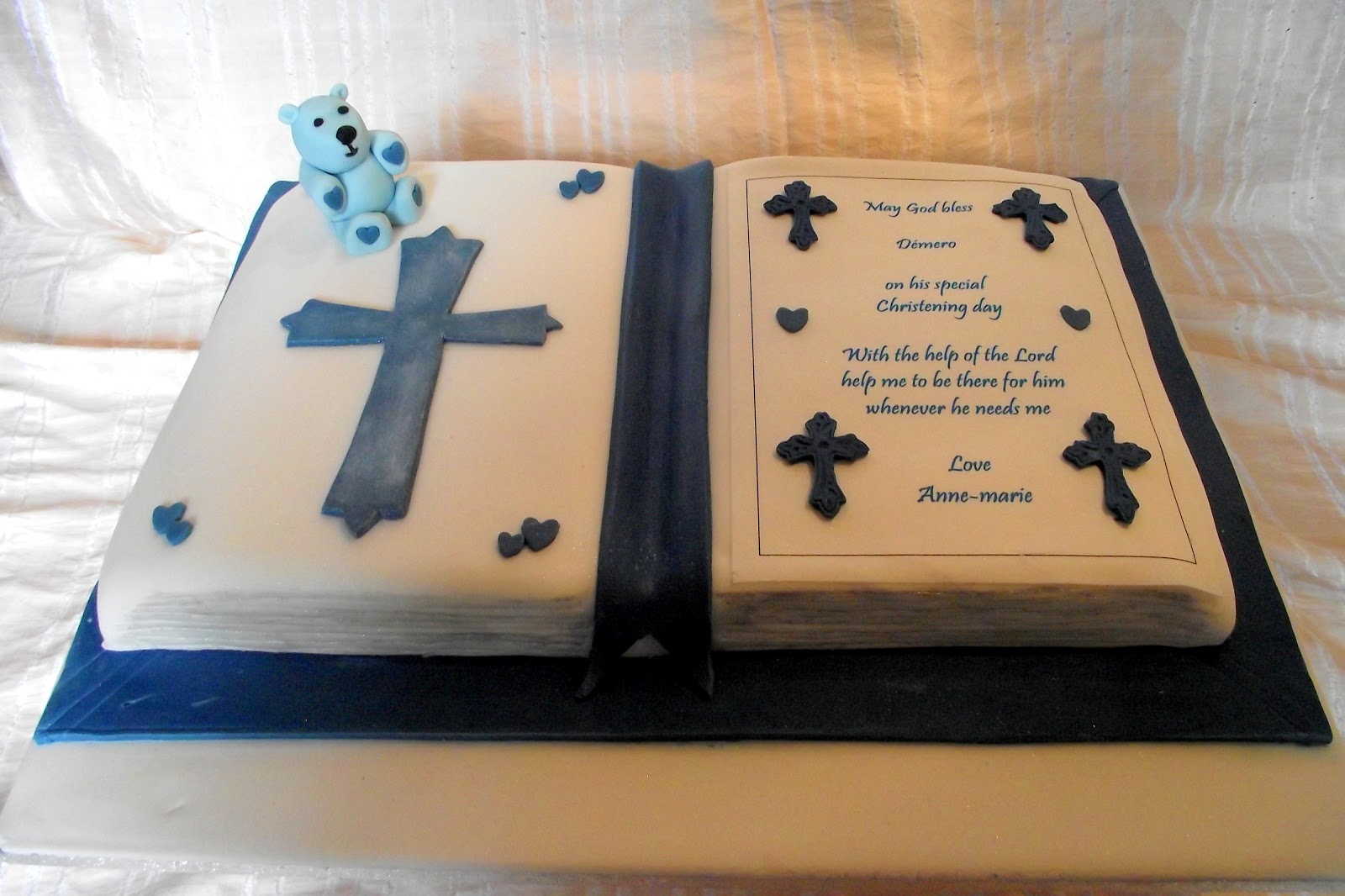 Bible Shaped Cake http://hawaiidermatology.com/bible/bible-shaped-cake-for-christening.htm