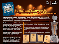 TM Recognised at NACRA & PWC Building Trust Awards Malaysia Chapter